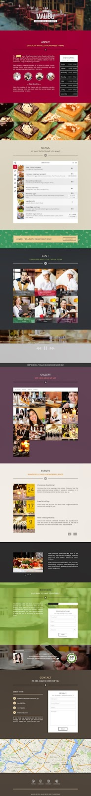Premium Restaurant Cafe Bistro WP Theme