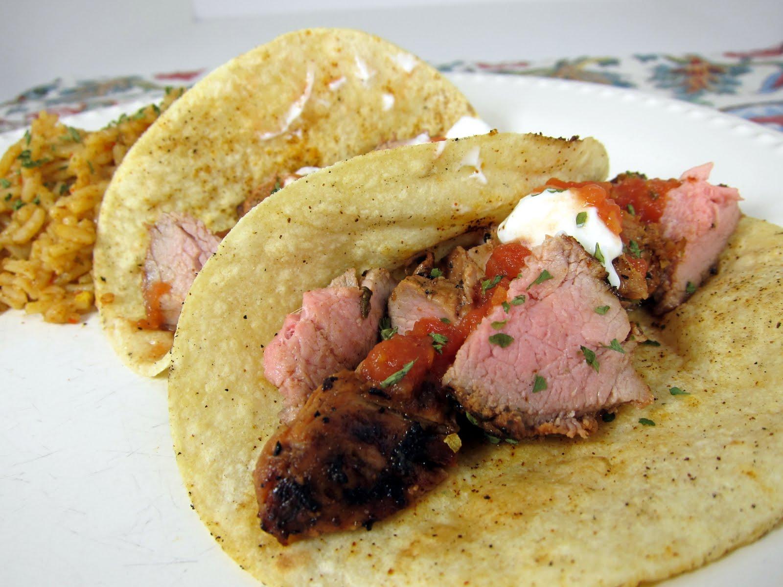 Grilled Pork Tacos Recipe - pork tenderloin marinated in lime juice ...