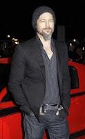 Brad Pitt with scruffy beard