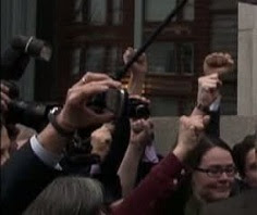 Tim DeChristopher salute.