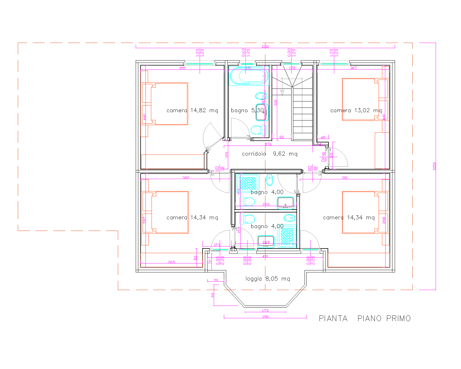 Progetti di case in legno casa 222 mq loggia 8 mq for Progetti di case costiere