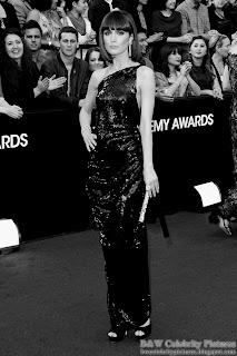 Rose Byrne over red carpet at 2012 Academy Awards - Oscar arrival