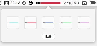 Macのメニューバーにライトセーバー