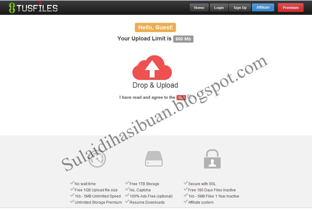 Cara Mudah Daftar Dan Upload File Di Tusfiles