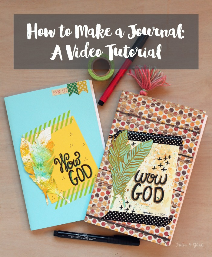 Learn how to make a handmade journal easily and inexpensively by following this awesome video tutorial! www.pitterandglink.com