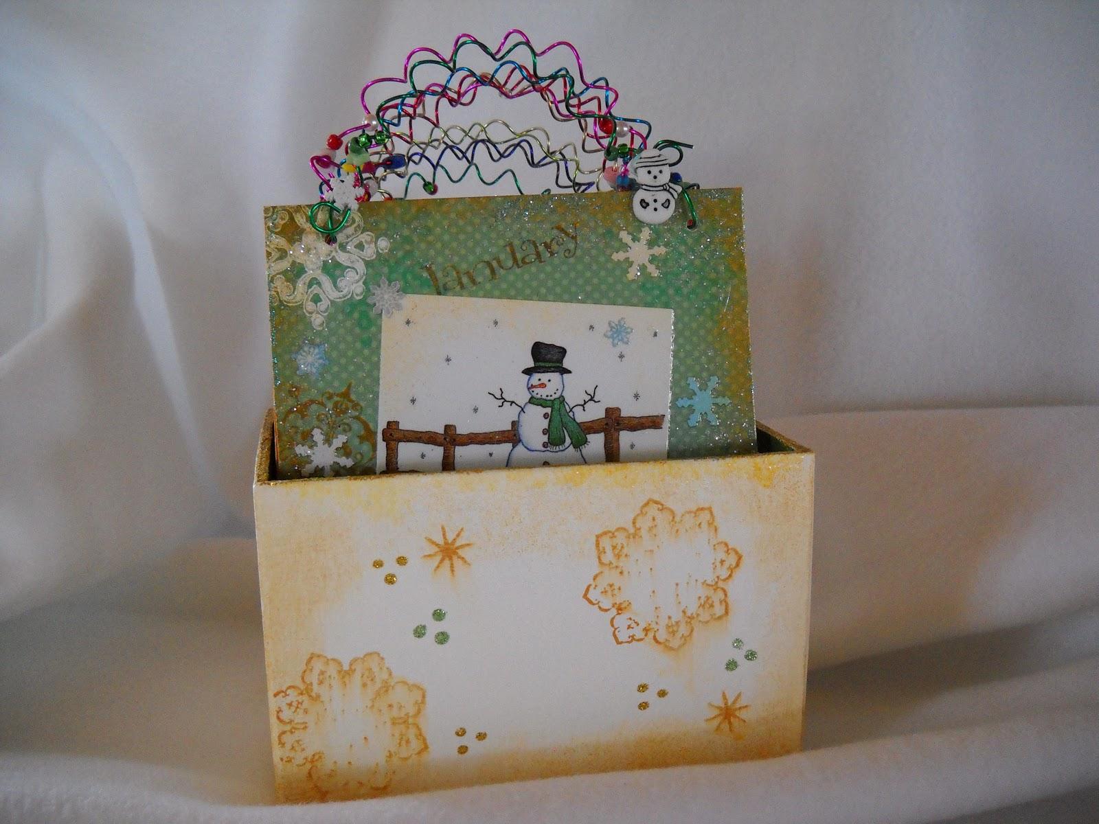 Handmade Calendar Designs : Julies creative ideas my handmade snowman calendar