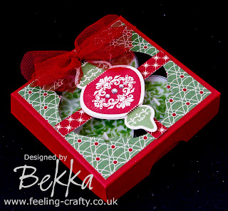 Candles decorated with the Ornament Keepsake Stamp Set from Stampin' Up!   These are available from Bekka Prideaux Stampin' Up! Demonstrator bekka@feeling-crafty.co.uk