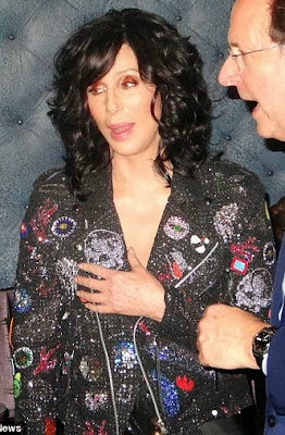 Cher, partying in New York