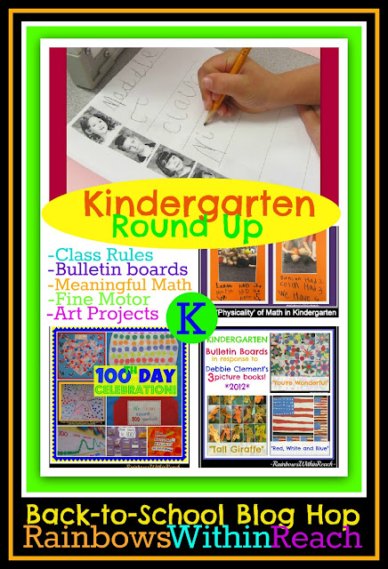 photo of: Kindergarten RoundUP + Bloghop: Meaningful Math, Fine Motor, Art Projects, Bulletin Boards the whole enchilada!