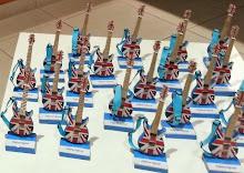 Guitarras com bandeira da Inglaterra