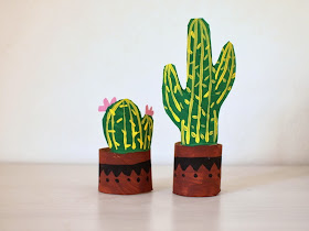 make toilet paper roll cacti
