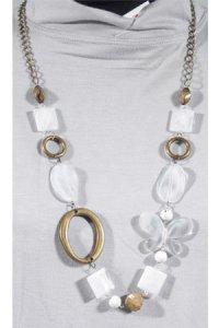 Kalung Saphire - Putih (Toko Jilbab dan Busana Muslimah Terbaru)