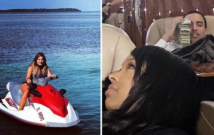 Khloe Kardashian And French montana Vacation along In Florida