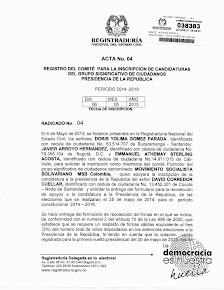 Acto oficial Inscripción Pre-Candidatura Presidencial MSBColombia
