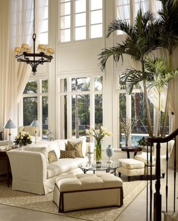The Best Window Blinds For Living Room Decorate Window Treatments Are Best For Two Story Windows Or Oversized Windows