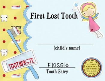 Wild image regarding tooth fairy card printable