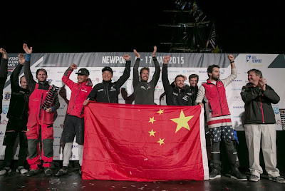 Charles Caudrelier et Dongfeng vainqueurs à Newport.