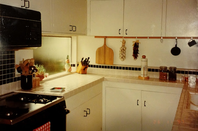 mid-century modern kitchen after eighties restore in 1997