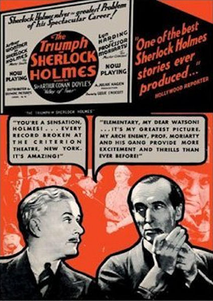 the triumph of sherlock holmes (1935) | comic book and movie reviews
