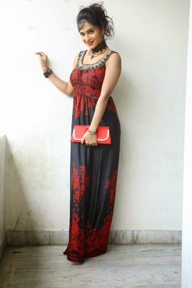 Madhumitha in Maxi Dress