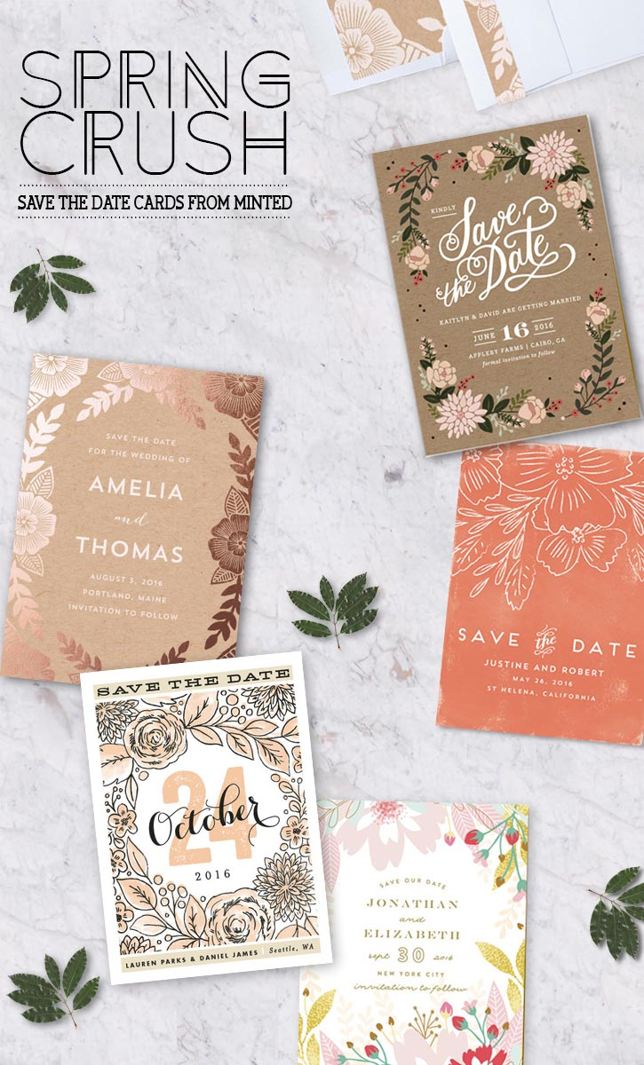 ON MY WISHLIST: Pattern Inspiration; Spring themed paperie from Minted #weddings #party #events #art #inspiration