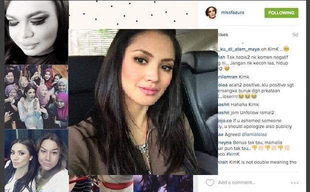 Kerana Isu #KimK, Nur Fazura Kehilangan 200,000 Pengikut Instagram
