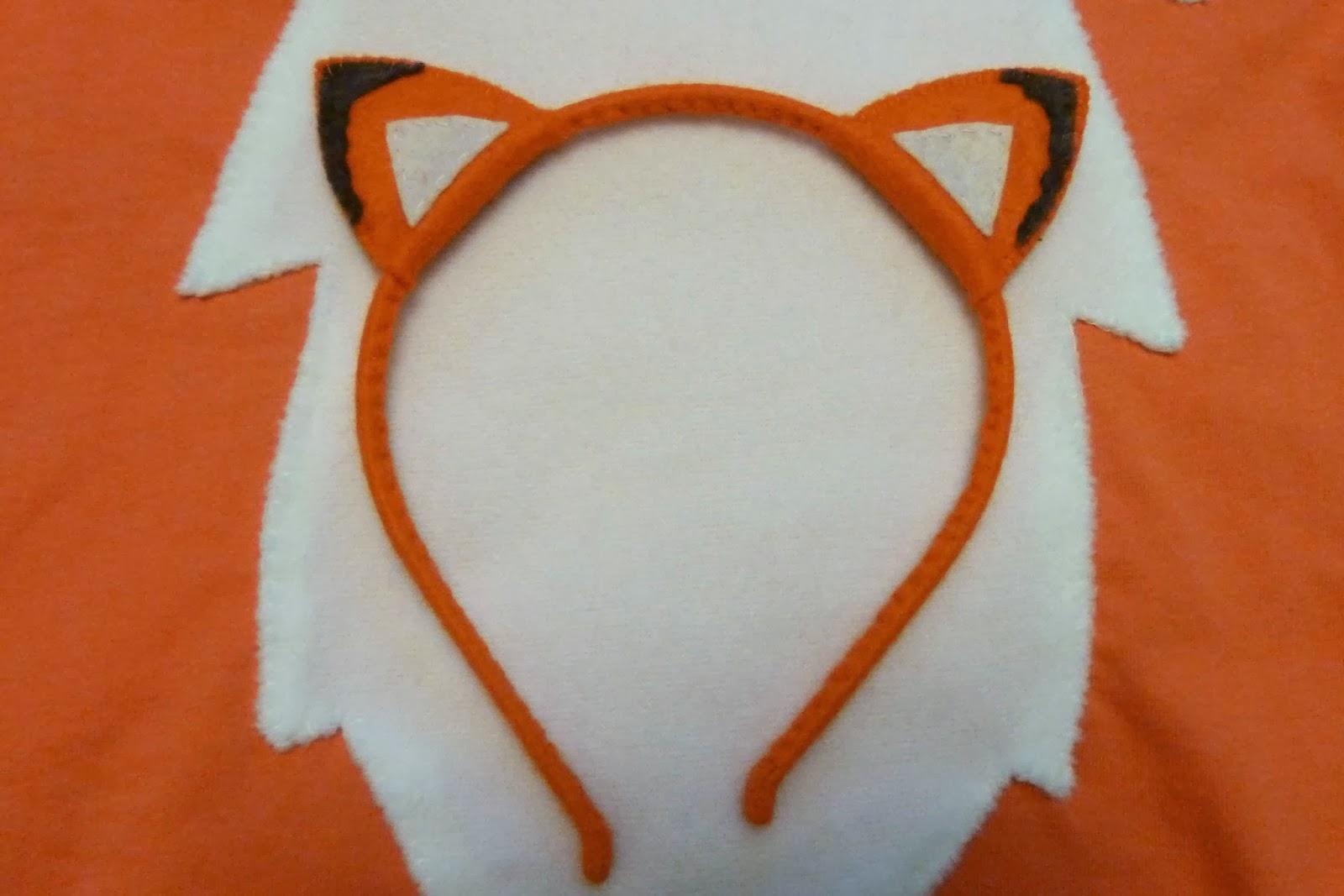 Как сделать ушки лисички из бумаги