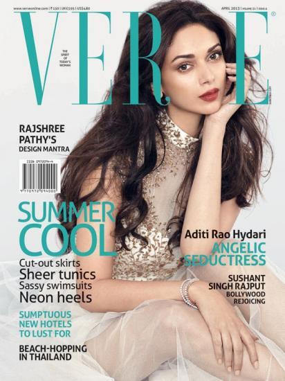 Aditi Rao Hydari on the cover of Verve (April 2013)