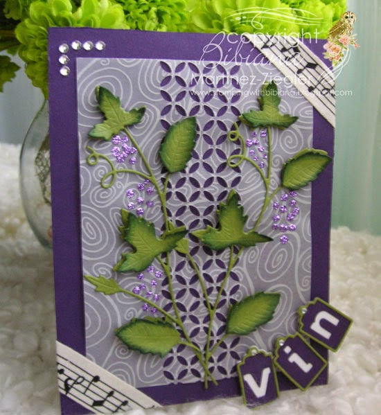 card grape vine  front
