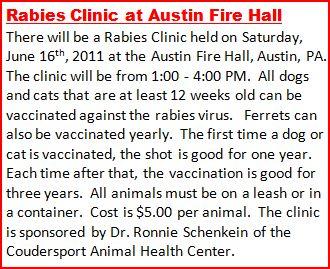 6-16 Rabies Clinic At Austin
