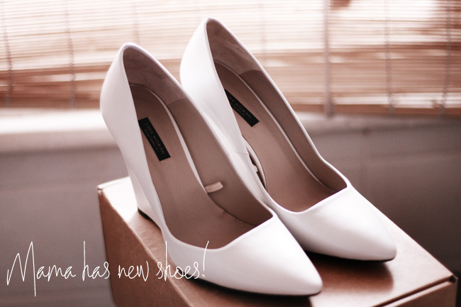 New Shoes - Zara White Pointy Wedges – Petite Proportions