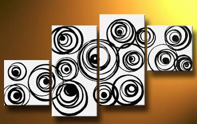 Cuadros abstratos en blanco y negro imagui - Cuadros modernos blanco y negro ...