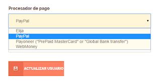 metodos de pago shorte paypal payoneer webmoney