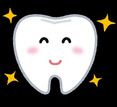 綺麗な歯のキャラクター
