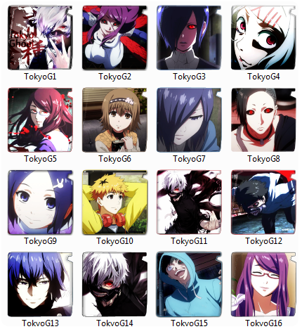 Tokyo Ghoul Folder pack icon