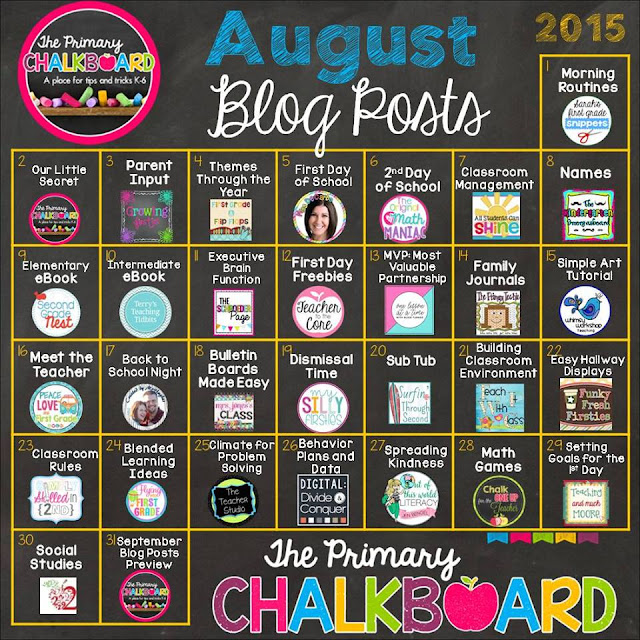 What We're Chalking About AUGUST: A Visual Calendar