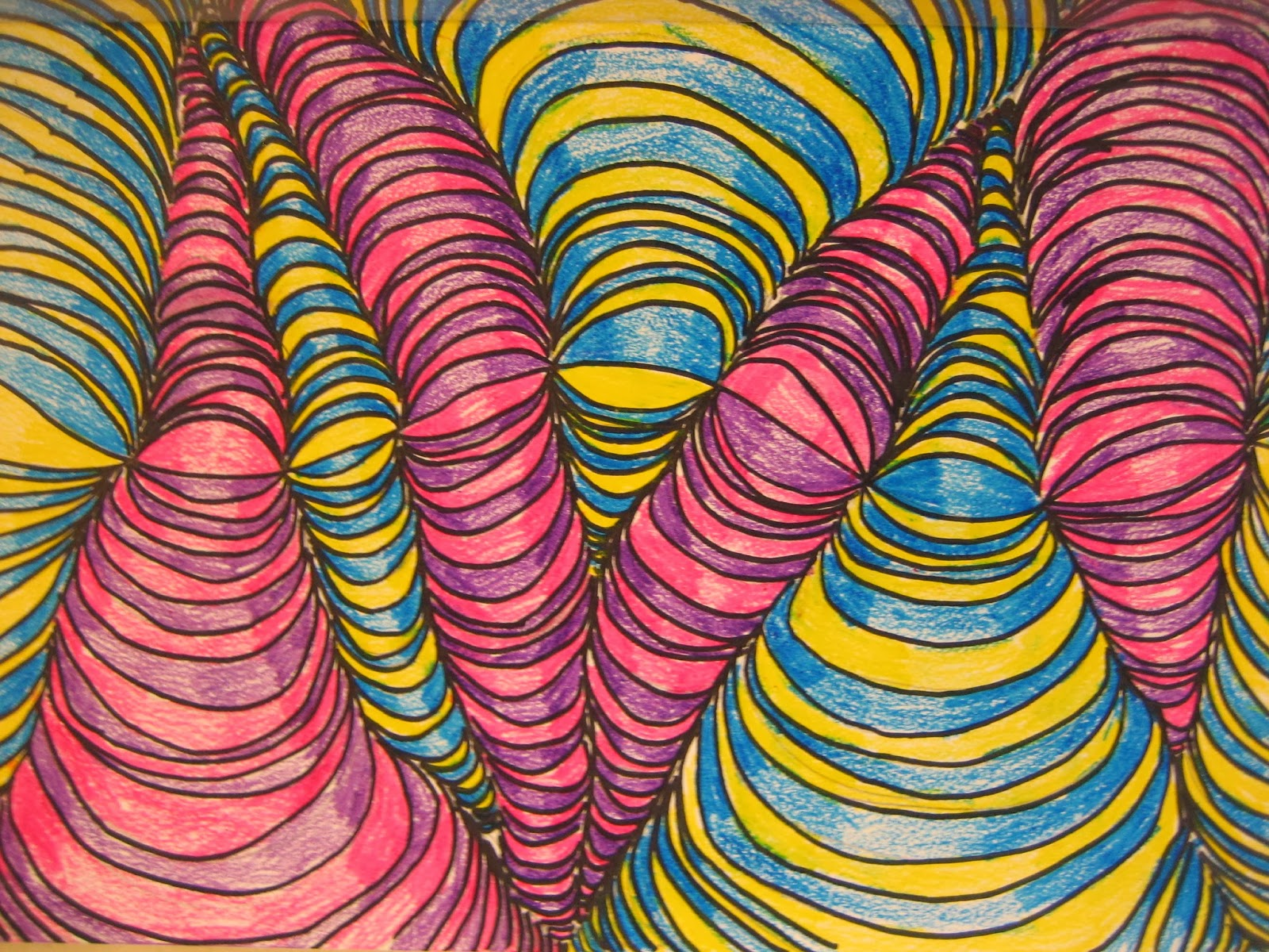 Line Design Op Art : Creations from young minds fourth grade line design op art