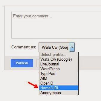 Kaedah tingkatkan trafik dengan memilih name/url sebagai pengomen