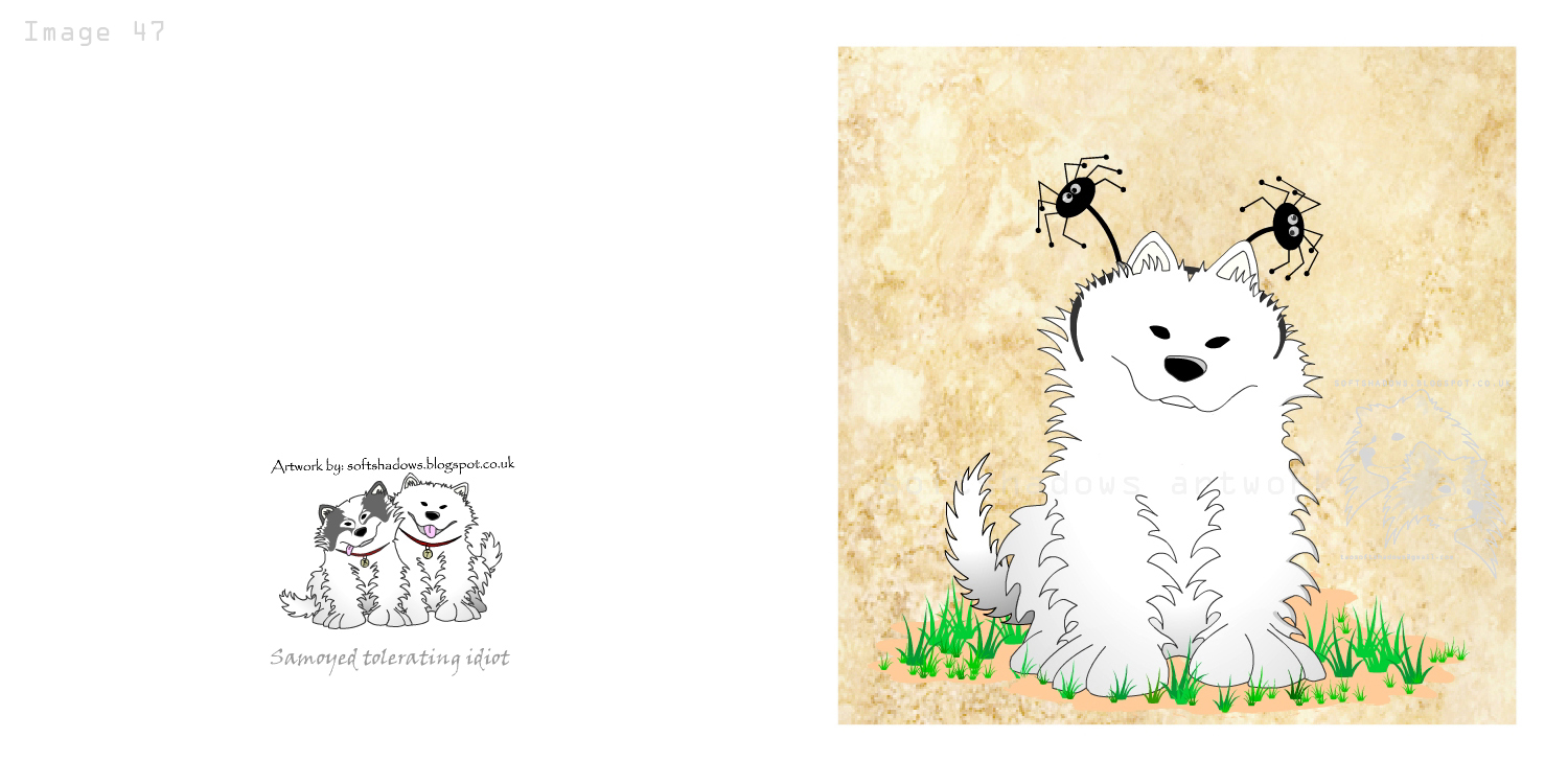Samoyed greetings Cards