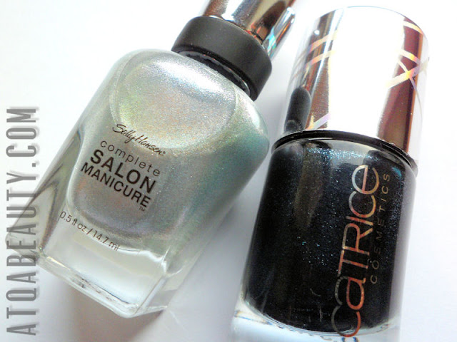 Half moon: Sally Hansen, Complete Salon Manicure, Silver Lining & Catrice, Out of Space LE, C04 Moonlight Express
