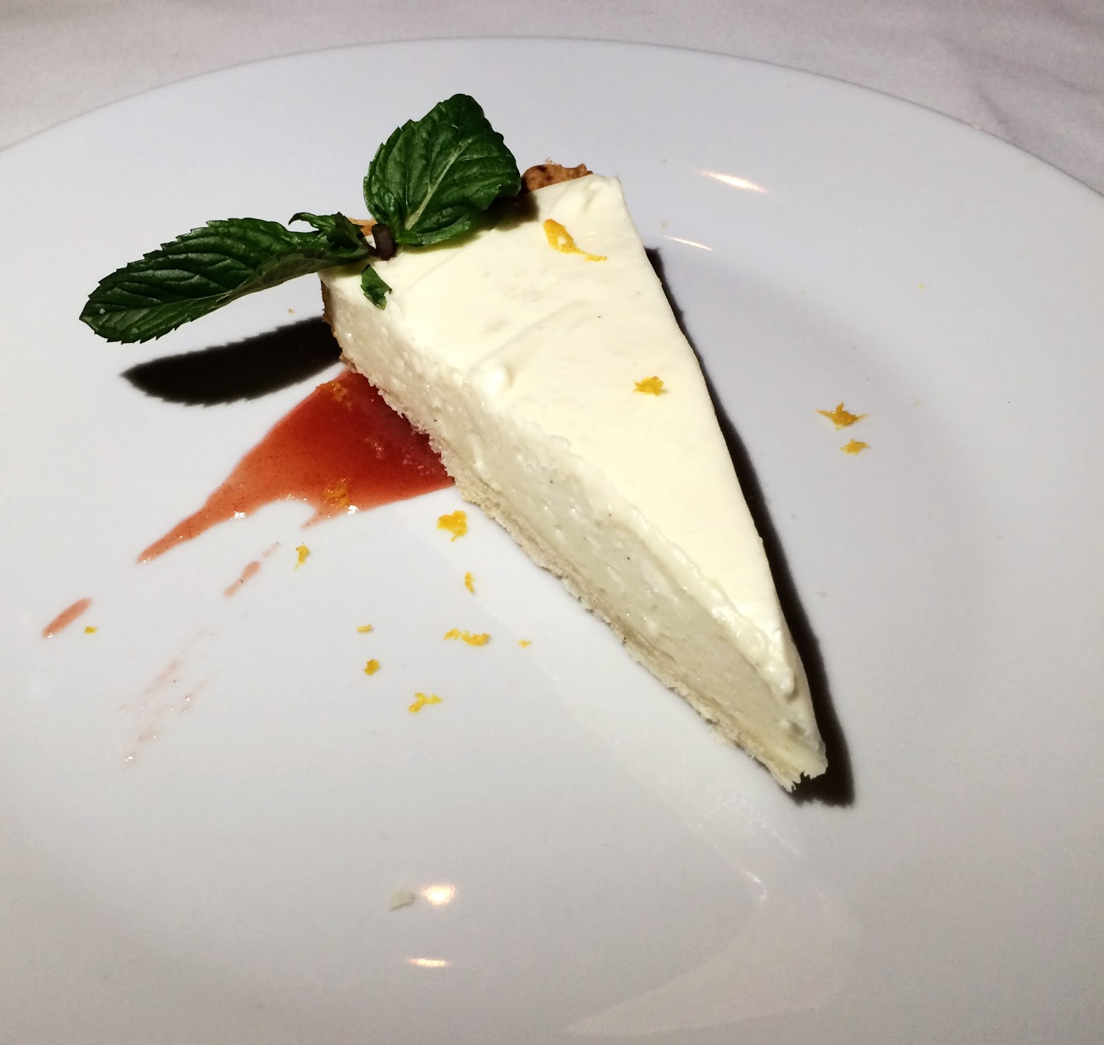 goat cheese cake  at Watermark in the Gulch in Nashville, Tennessee
