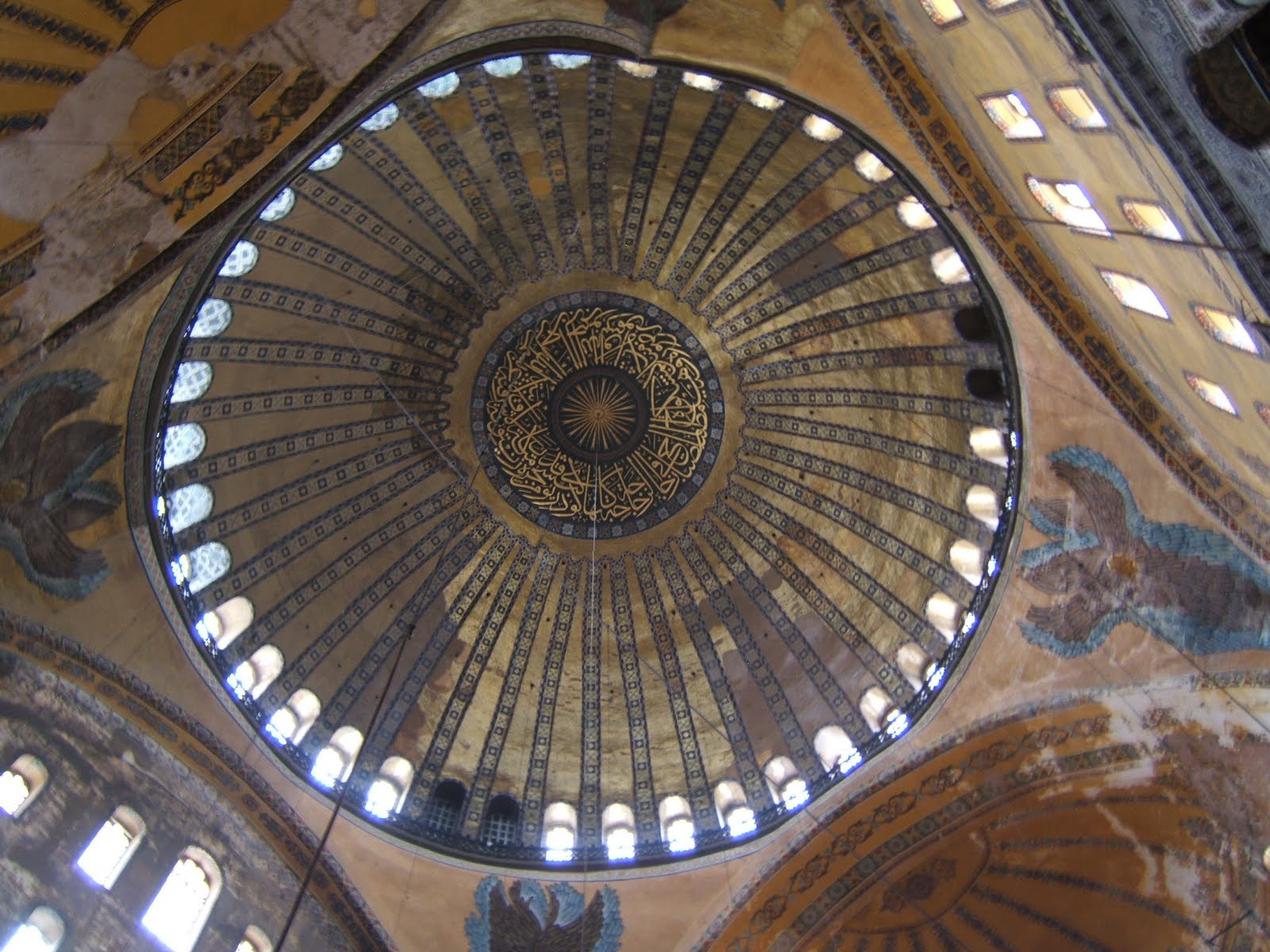 Central Dome.  Ayasophia church, Istanbul Turkey