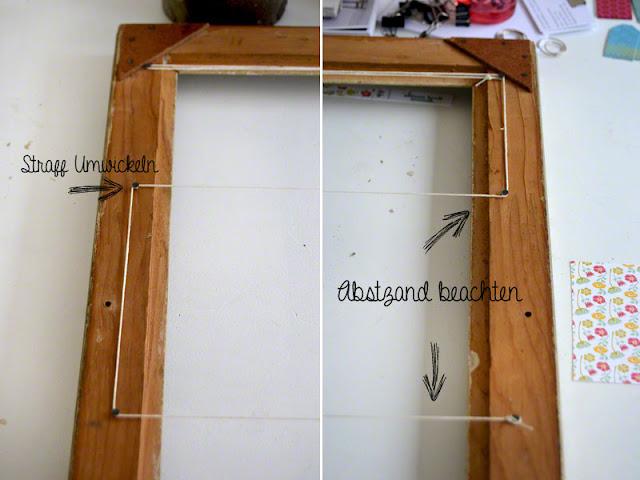 was fange ich mit dem alten bilderrahmen an diy. Black Bedroom Furniture Sets. Home Design Ideas