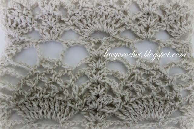 Lacy Crochet Fancy Pineapple Stitch