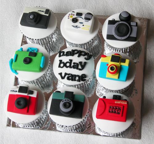 The Cake Shop Lomo Camera Theme Cupcakes
