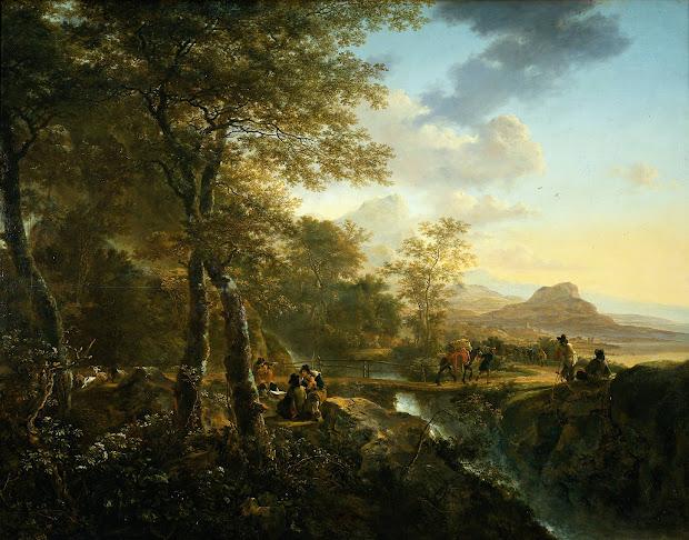 flemish landscape painting of