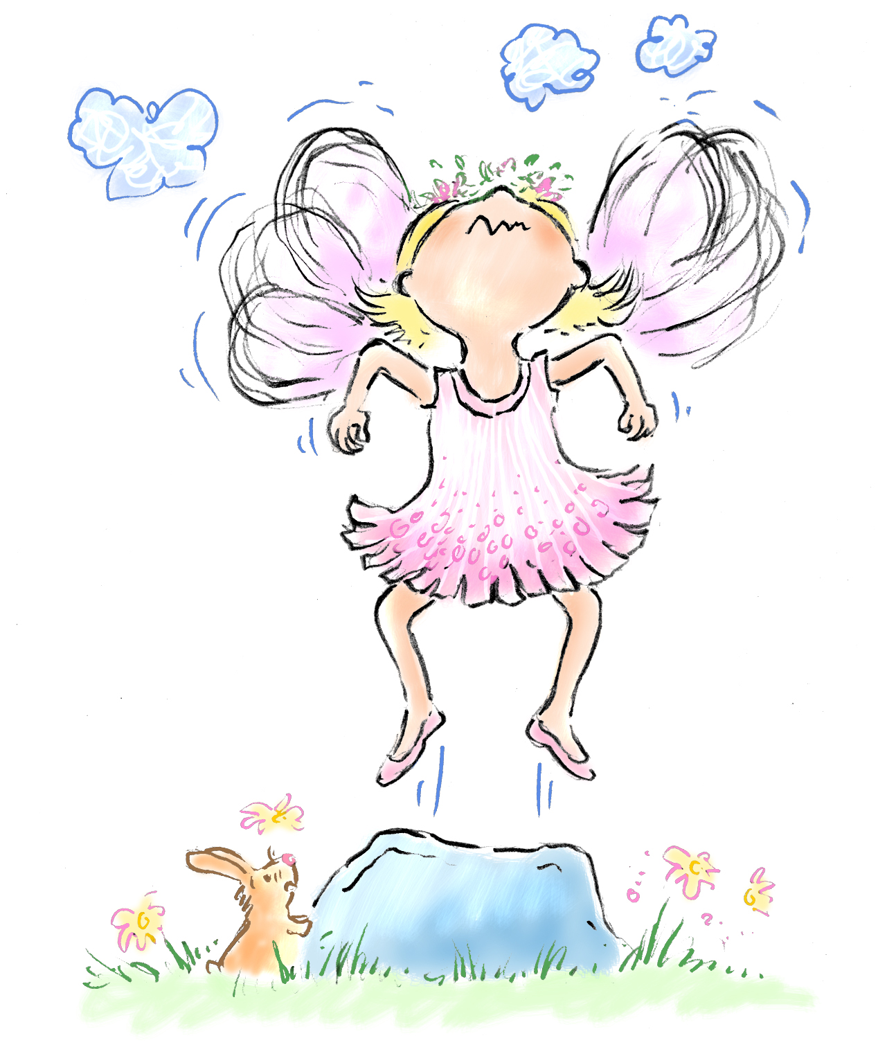 Flying Fairy Drawing Images & Pictures - Becuo