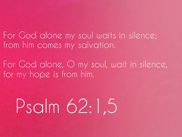 my soul waits in silence