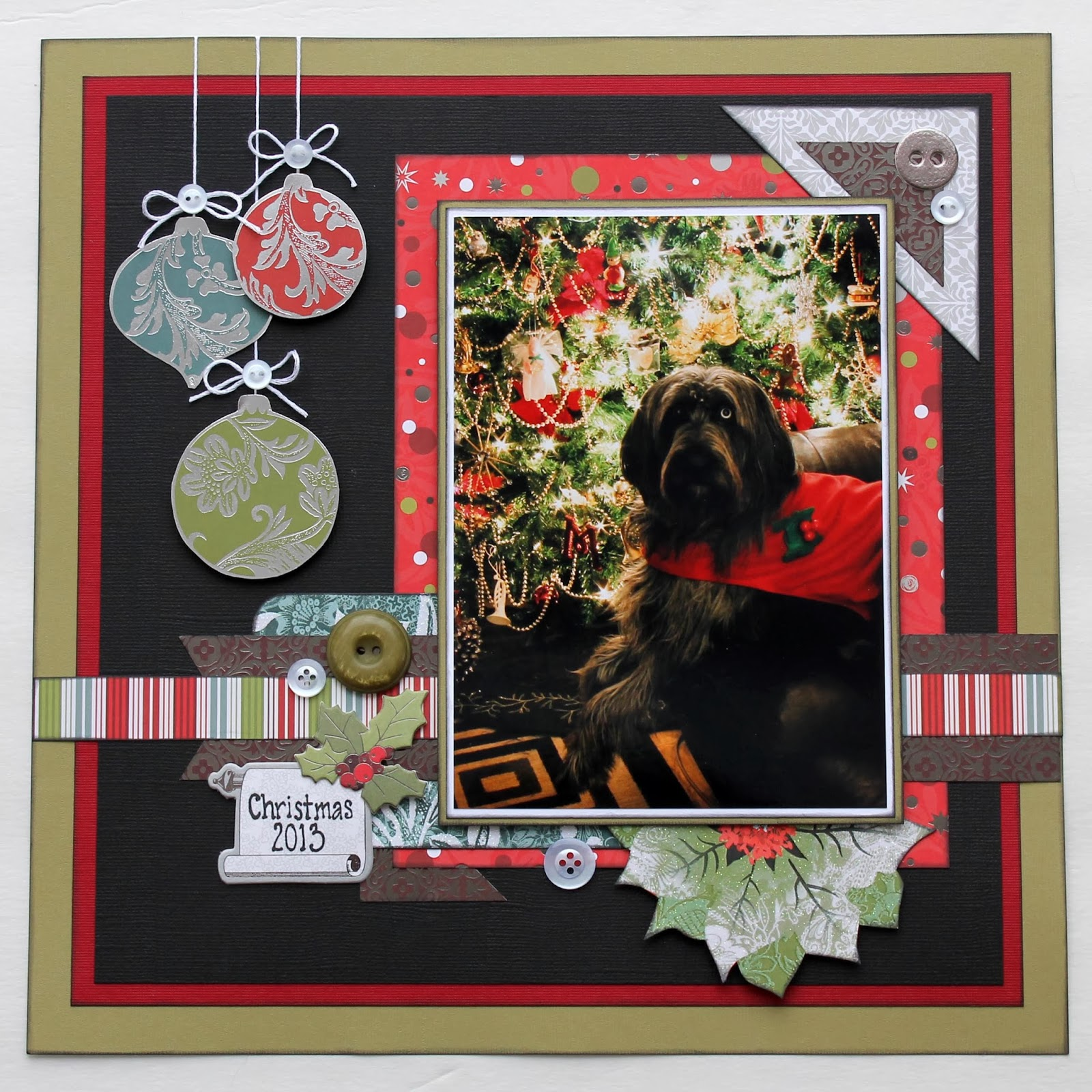 Scrappy chick designs a christmas layout for Christmas layout ideas