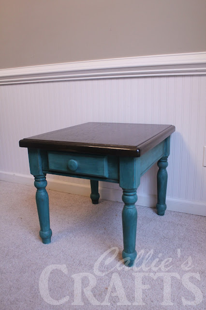 ebony stain, chalk painted table, ce ce caldwell, destin gulf green